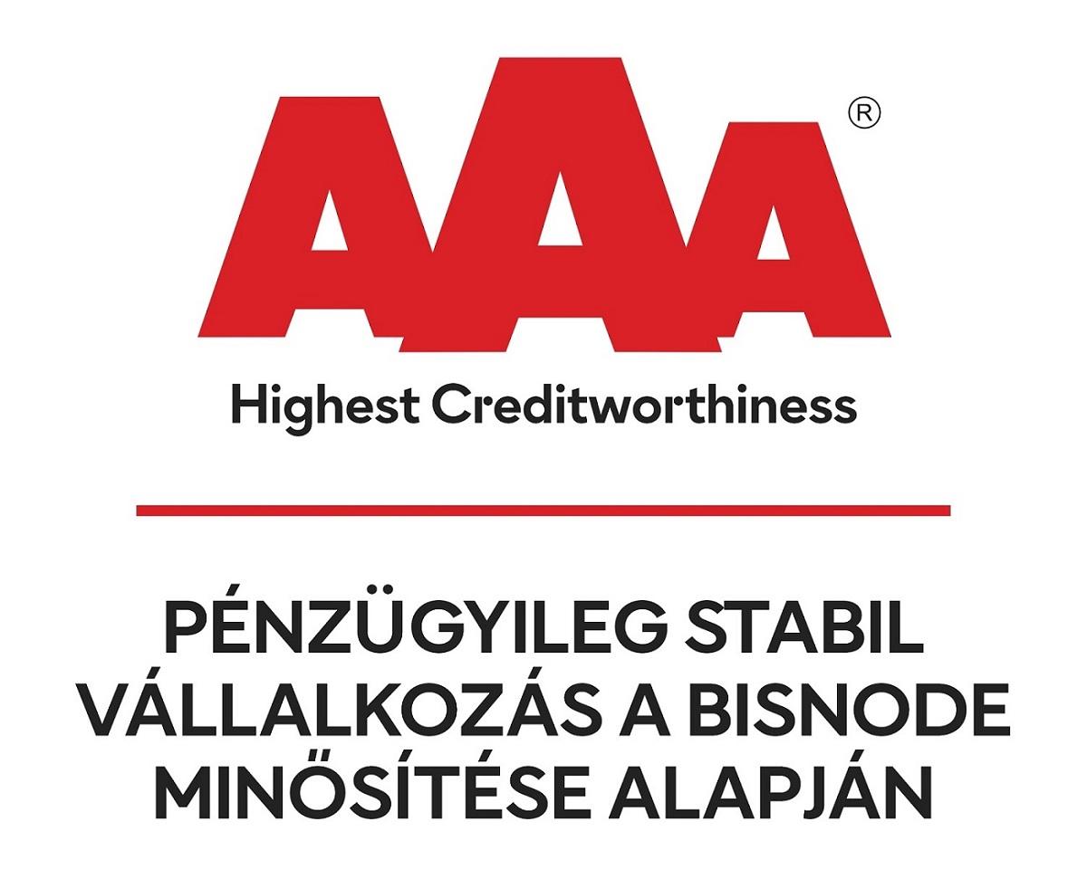 AAA minősítés cégünk részére